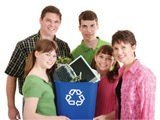 recycling family image