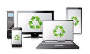 Electronics recycling it asset disposition data destruction image