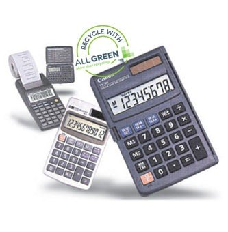calculator recycling image