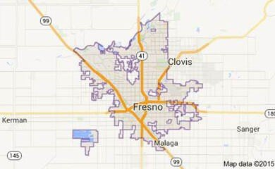 Fresno CA Map Image