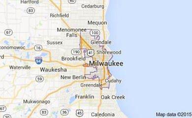 Milwaukee WI Map Image