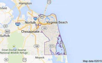 Virginia Beach VA Map Image