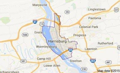 Harrisburg Pa Map Image