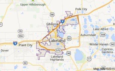 Lakeland Fl Map Image