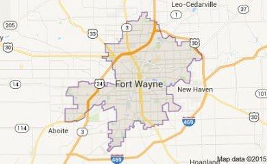 fort-wayne-in-map