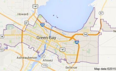 green-bay-wi-map