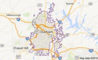 Durham Nc Map Image