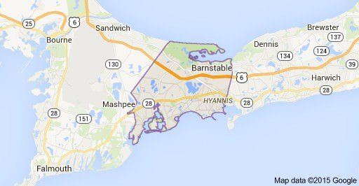 barnstable town ma map image