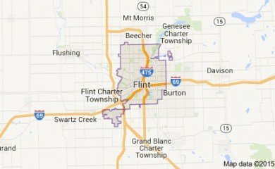 Flint Mi Map Image