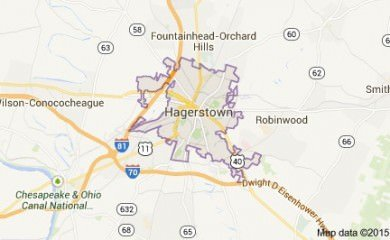 Hagerstown Md Map Image