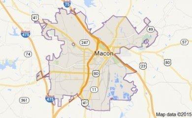 Macon Ga Map Image