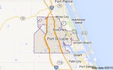Port St. Lucie fl Map Image