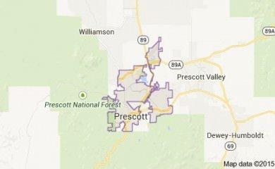 Prescott Az Map Image