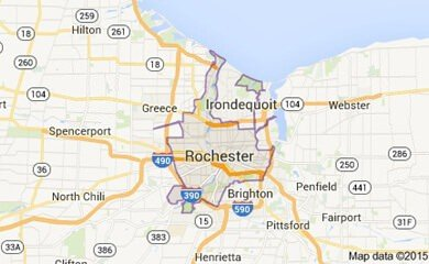 rochester on map
