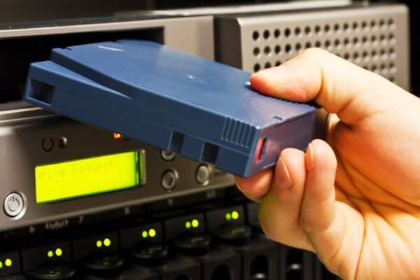 LTFS - Linear Tape File System - Uses LTO just like a